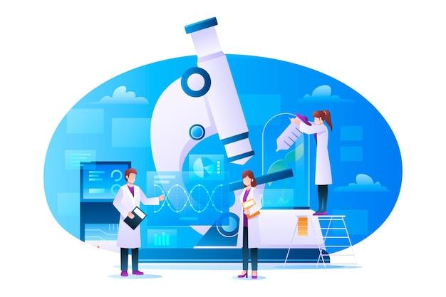 Biotechnologiekonzept im gradientenstil