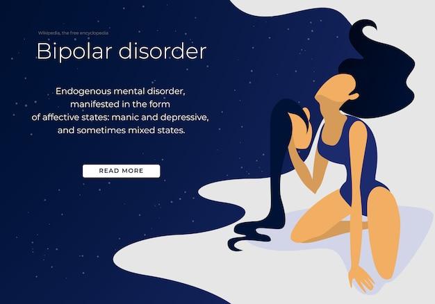 Bipolare psychische gesundheit und medizinische störung des gehirns.
