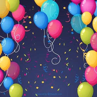 Birhtday ballone hintergrund zu feiern