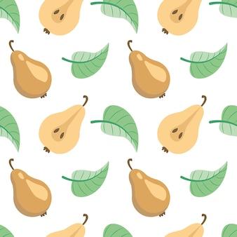 Birnen natur früchte muster