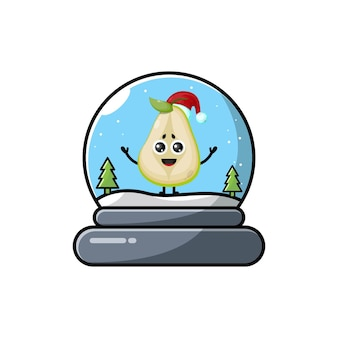Birnenkuppel weihnachtssüßes charakterlogo
