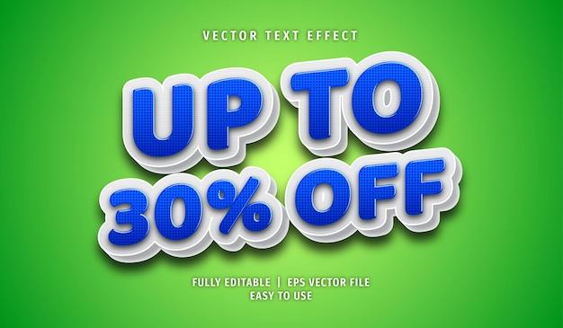 Bis zu 30% rabatt auf texteffekt, bearbeitbaren textstil