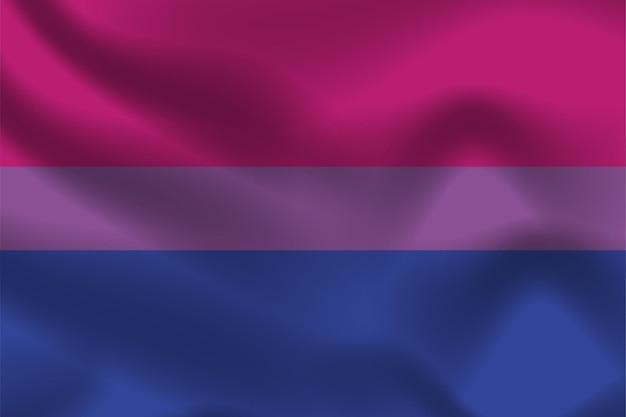 Bisexuelle stolz-flagge für lgbtq-freie vektorillustration