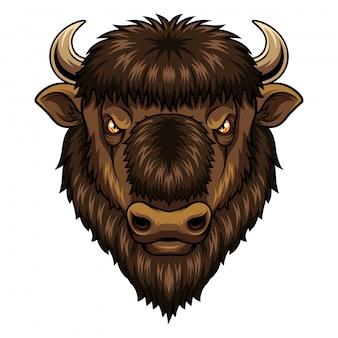 Bison head maskottchen