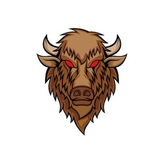 Bison kopf vektor