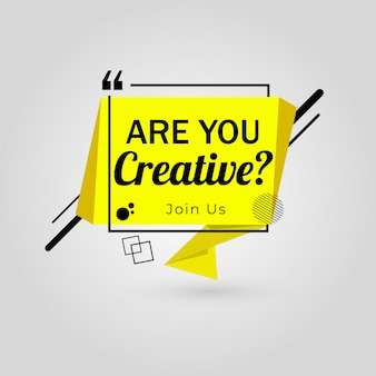 Bist du kreativ? machen sie mit bei job vacancy, wir stellen ein poster ein