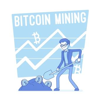 Bitcoin bergbau abbildung