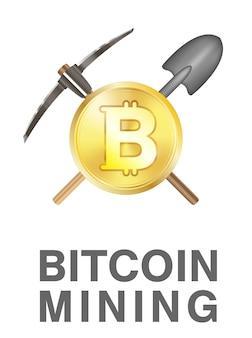 Bitcoin-bergbau-logo