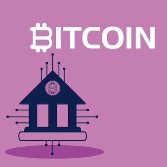 Bitcoin cryptocurrency-konzept