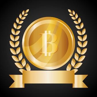 Bitcoin design illustration