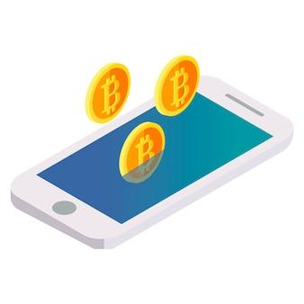 Bitcoin fliegt aus dem telefon