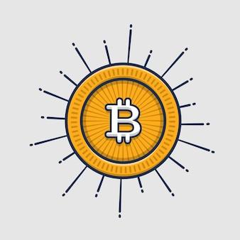 Bitcoin gold illustration