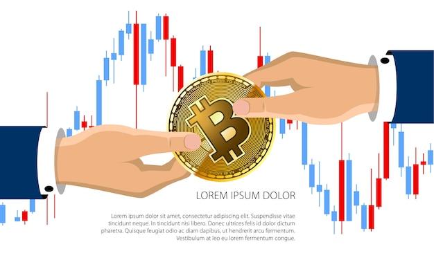Bitcoin-handelsdiagrammillustration