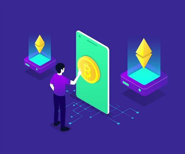 Bitcoin isometrische darstellung