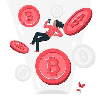 Bitcoin-konzeptillustration