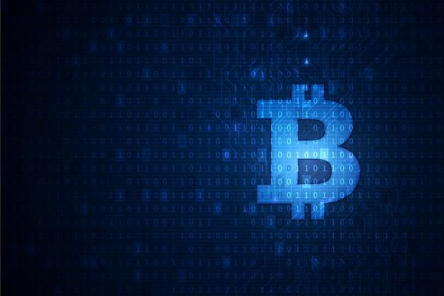 Bitcoin-kryptowährung blockchain technologiehintergrund