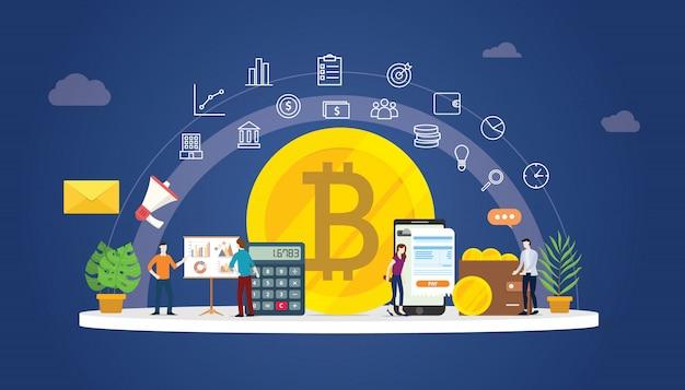 Bitcoin-kryptowährung digitales geld