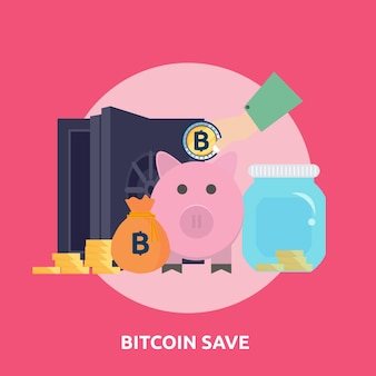 Bitcoin sparen konzeptionelles design