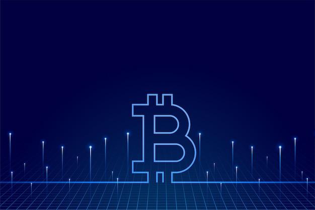Bitcoin-technologie-hintergrund der kryptowährung des virtuellen geldes
