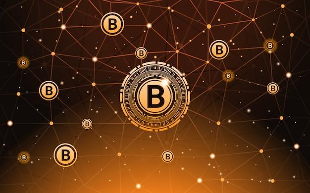 Bitcoin-währungsfahnen-digital-zahlungs-moderne kryptogeld-technologie