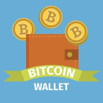 Bitcoin wallet-konzept