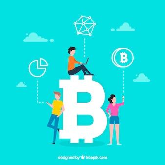 Bitcoin-wort-konzept