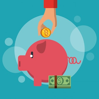 Bitcoins-investitionssymbol