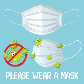 Bitte tragen sie ein maskenschild