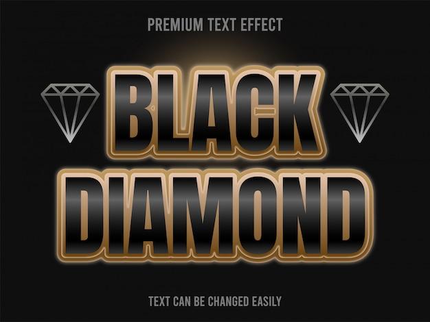 Black diamond text-effekt Premium Vektoren