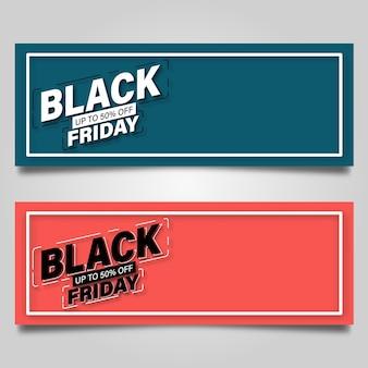 Black friday banner design vorlage. vektorillustration