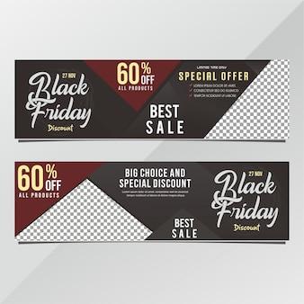 Black friday banner rabatt