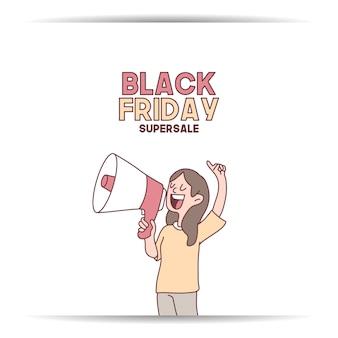 Black friday banner super sale discounter jetzt zu hause