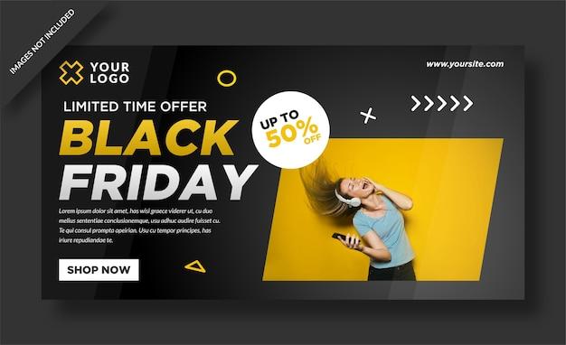 Black friday banner und social media design