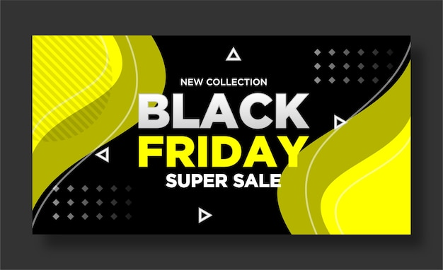 Black friday banner und social media post design