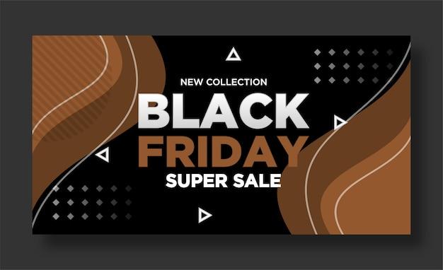 Black friday banner und social media post design