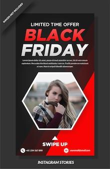 Black friday banner und social media story