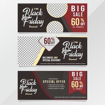 Black friday-banner-verkaufsdesign