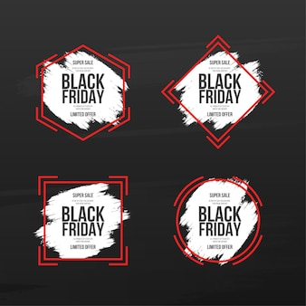 Black friday-bannersammlung