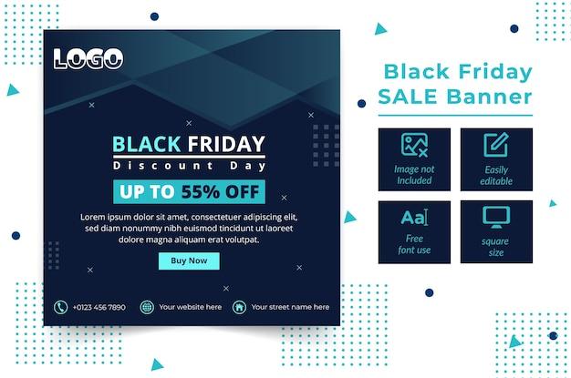 Black friday bieten web-banner-vorlage design
