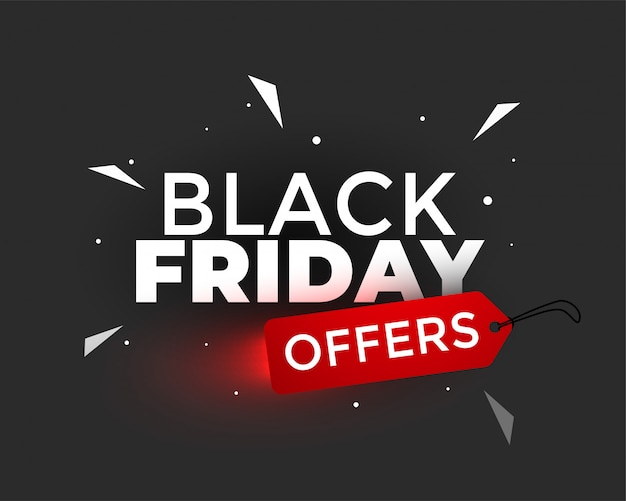 Black friday bietet kreatives banner-design