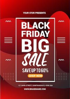 Black friday big sale flyer design