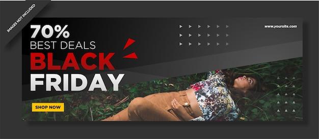 Black friday cover und social media post