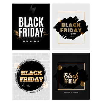 Black Friday-Designvorlagensatz
