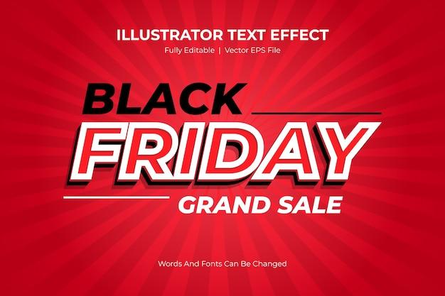 Black friday editable text style-effekt