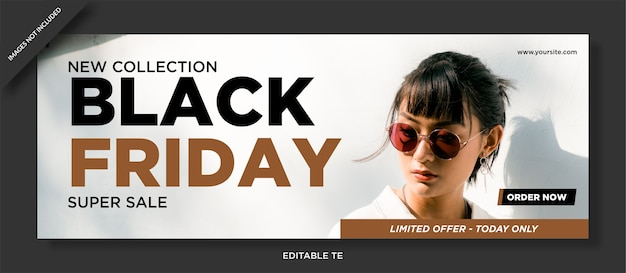 Black friday facebook cover und social media post design Premium Vektoren