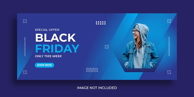 Black friday fashion sale banner