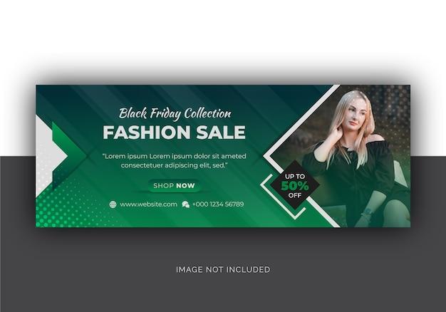 Black friday fashion sale social media facebook-cover