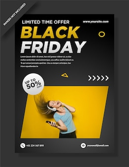 Black friday flyer, poster und social media design