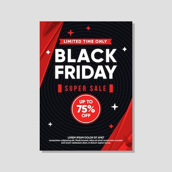 Black friday flyer vorlage