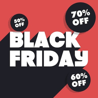Black friday illustration mit rabatten